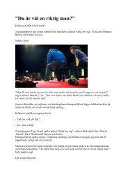 Läs DN artikeln om föreställningen här - Tage Granit