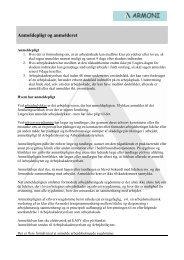 Anmeldepligt og anmelderet - Armoni