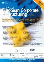 European Corporate Restructuring Summit - Turnaround ...