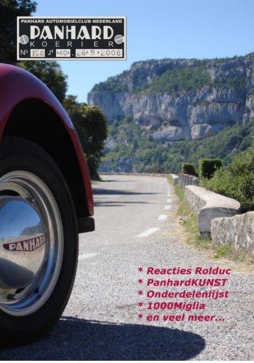 Lees Panhard koerier 158 online - Panhardclub Nederland
