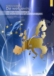de wetgeving die van toepassing is op werknemers in de ... - Europa