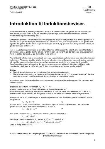 Introduktion til Induktionsbeviser. - Gymportalen