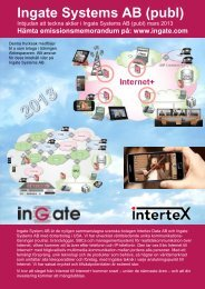 Ingate Systems AB (publ)
