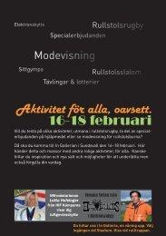 Aktivitet för alla, oavsett. 16-18 februari - Mynewsdesk