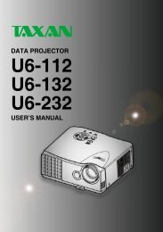 Taxan U6-112 DLP User Guide Manual Download - Projector
