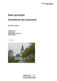 Stiftelsen Kulturmiljövård Rapport 2012:68. - KMMD