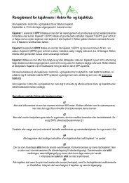 Ro-reglement Kajak - Hobro Ro- og Kajakklub