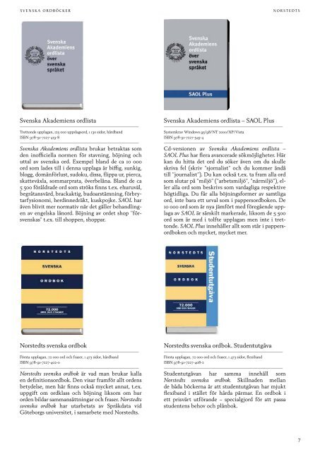 Svensk ordbok utgiven av Svenska Akademien - Norstedts