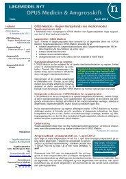 OPUS Medicin & Amgrosskift - Sygehusapoteket - Region Nordjylland