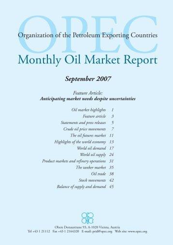 Monthly Oil Market Report