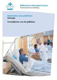 Verwijderen van de galblaas - Wilhelmina Ziekenhuis Assen
