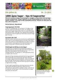 1000 åpne hager – tips til hageverter - Hageselskapet