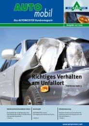 Richtiges Verhalten am Unfallort - AUTOMEISTER
