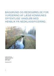 baggrund og redegørelse for vurdering af læsø kommunes offentlige ...