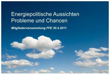 Energiepolitische Aussichten - Frauen für Energie