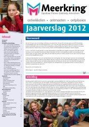 het Jaarverslag 2012 van Meerkring.