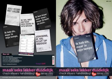 Brochure Maak Seks Lekker Duidelijk - Rutgers WPF