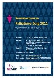 Summercourse Palliatieve Zorg 2011