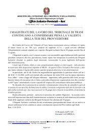 I Magistrati del lavoro del Tribunale di Trani ... - I siti personali