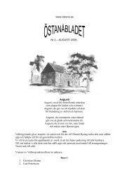 www.ostana.se Nr 3 – AUGUSTI 2008 - Augusti Augusti, med ditt ...