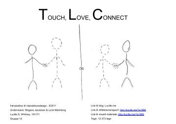 TOUCH, LOVE, CONNECT - Lucille Whitney