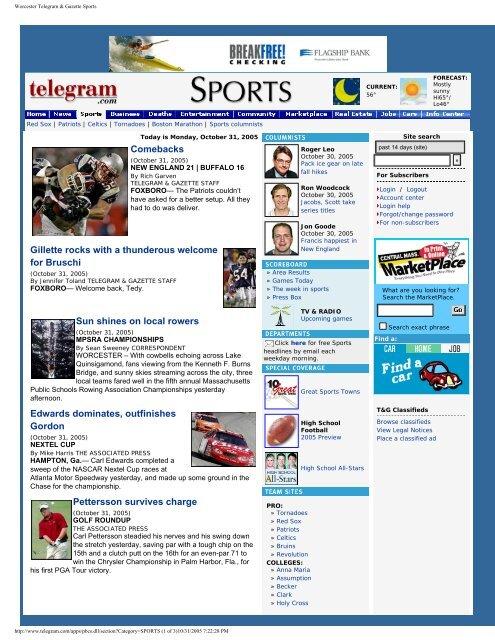 Worcester Telegram & Gazette Sports