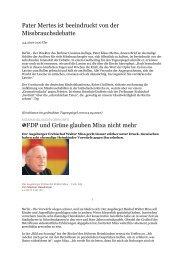 Pater Mertes ist beeindruckt von der Missbrauchsdebatte FDP und ...