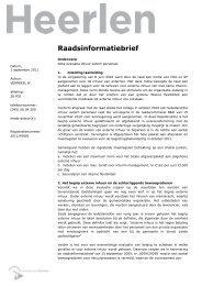 Raadsinformatiebrief - Gemeente Heerlen