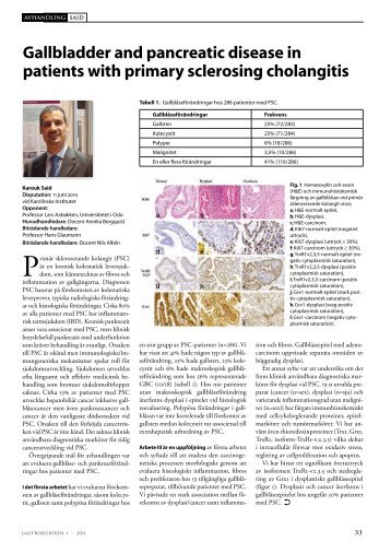 Gallbladder and pancreatic disease in patients with primary ...