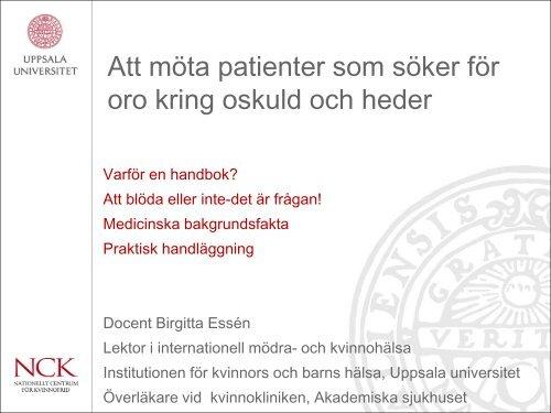 Kvinnokliniken Akademiska Sjukhuset Uppsala Karta.Oskuld