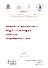 Administratieve sancties in België, Luxemburg en ... - Benelux