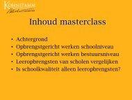 Masterclass opbrengstgericht besturen, Guuske Ledoux - PO-raad
