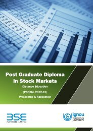 Post Graduate Diploma in Stock Markets