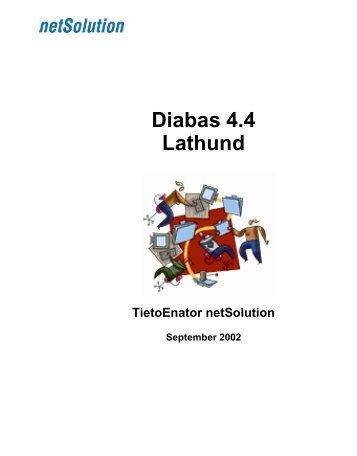Lathund för Diabas - Internwebben