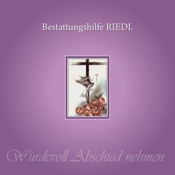 Trauerbroschüre downloaden - Bestattungshilfe Riedl