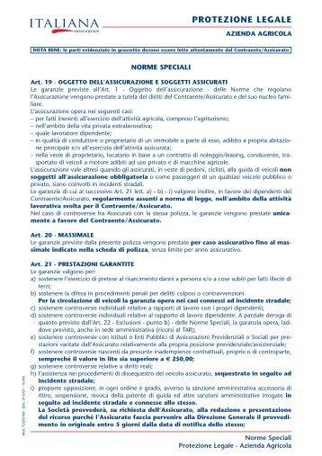 PROTEZIONE LEGALE - Italiana Assicurazioni