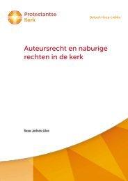 Brochure Auteursrecht en naburige rechten in de kerk - Protestantse ...