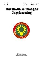 Nr. 2 April 2007 - Hørsholm & Omegns Jagtforening