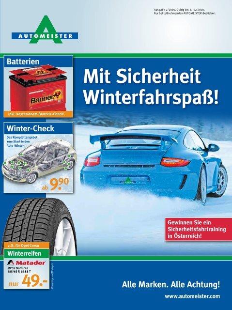 Mit Sicherheit Winterfahrspaß! - AUTOMEISTER