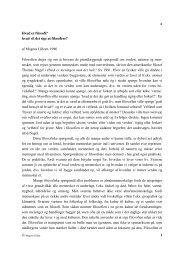 Hvad er filosofi og at filosofere? - Lilleor.dk