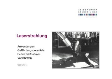 Laserstrahlung Dr. Vees