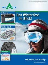 Den Winter fest im Blick! - AUTOMEISTER