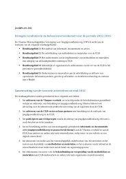 Jaarplan 2012 (PDF) - Vlaams Agentschap Zorg en Gezondheid