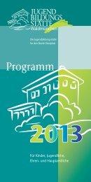 hier als PDF herunterladen - Jugendbildungsstätte Waldmünchen