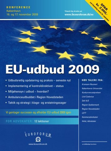 EU-udbud 2009 - IBC Euroforum