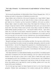 Den tredje reformation – fra statskristendom til ... - Grindsted Sogn