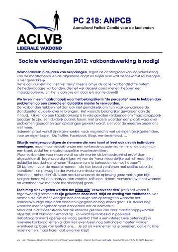 PC 218 : sociale verkiezingen 2012 - Aclvb