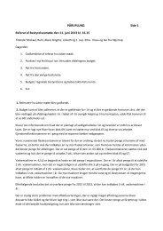 Referat af afdelingsbestyrelsesmøde den 11. juni 2013