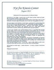 Nyhedsbrev august 2012 - Kinesis Center