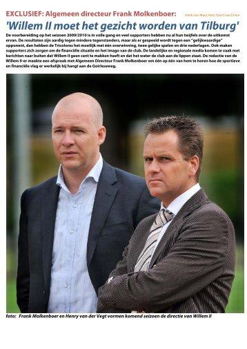 'Willem II moet het gezicht worden van Tilburg' - Supportersclub ...